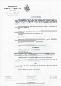 attestation notaire